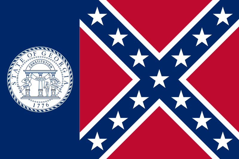 CKiCKOi la CHARADE - Page 2 800px-flag_of_the_state_of_georgia_1956-2001-svg