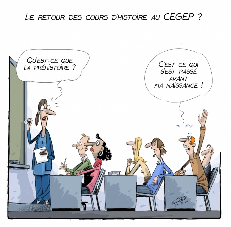 caricature d'André-Philippe Coté du Soleil de Québec