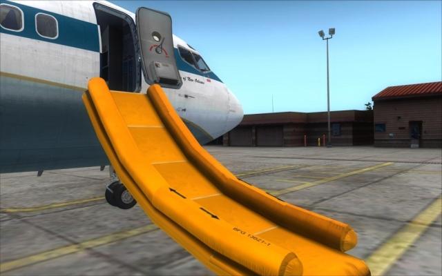tobogan d'avion