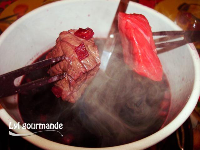 fondue vigneronne classique au vin rouge