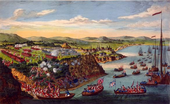 Prise de Québec par les Anglais peintre ?