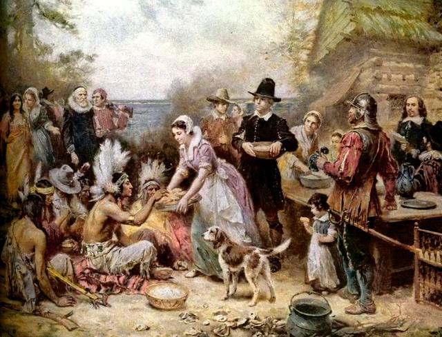 1st thanksgiving - peinture de Jean-Louis Gerome Ferris