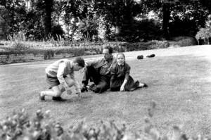 Camus et ses 2 enfants