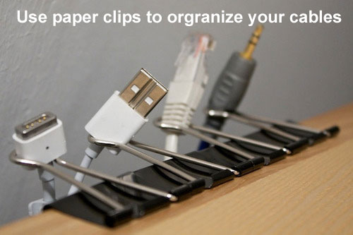 clips to organise