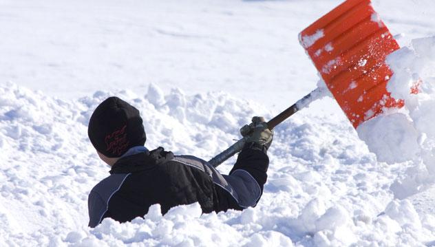 pelletage de neige