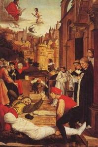Épidémie de la peste noire, gravure