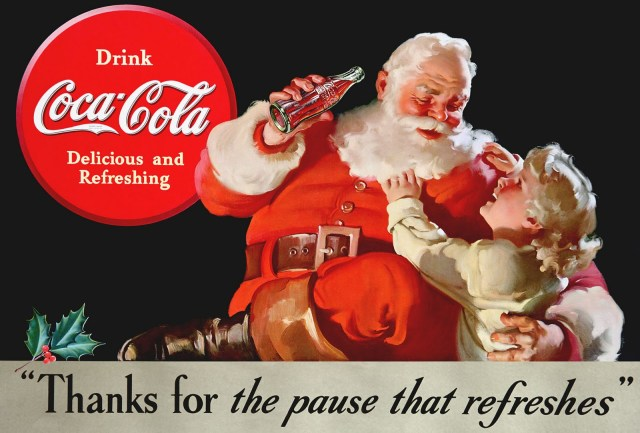 Little girl Santa Coca