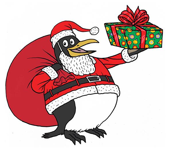 remplacer le Père Noël par un pingouin, non mais...