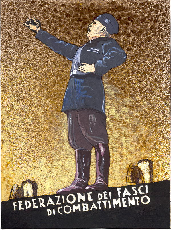 Affiche fasciste de Benito Mussolini