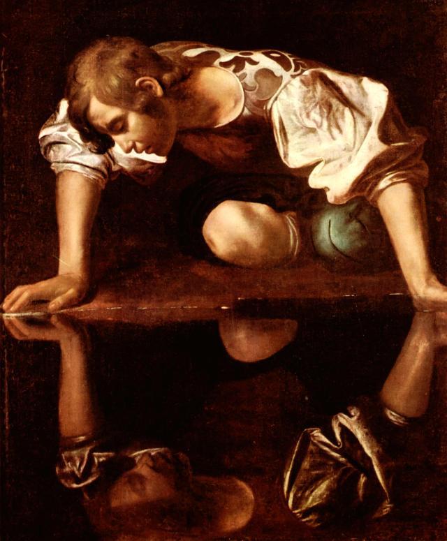 Narcisse par le Caravage... ou l'exaltation du MOI