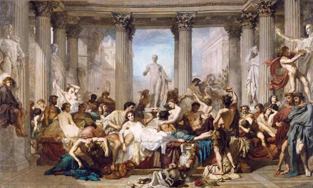 La décadence de Rome - peinture de Thomas Couture