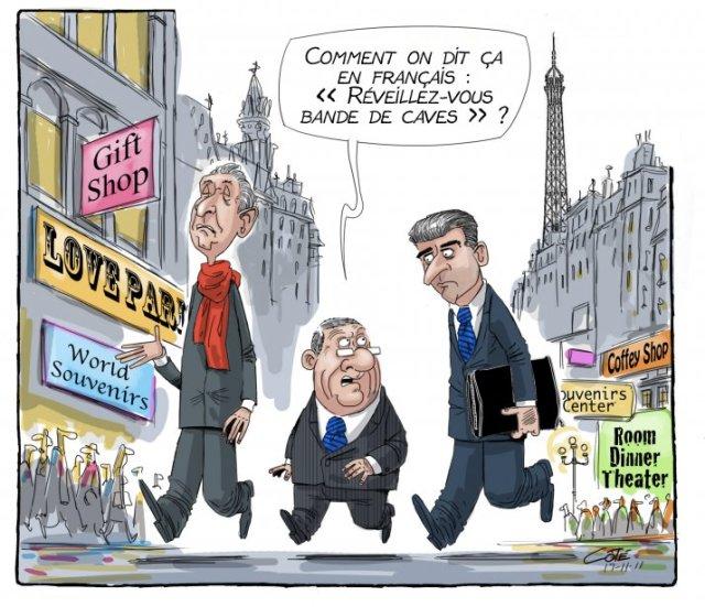 Le maire se Québec à Paris