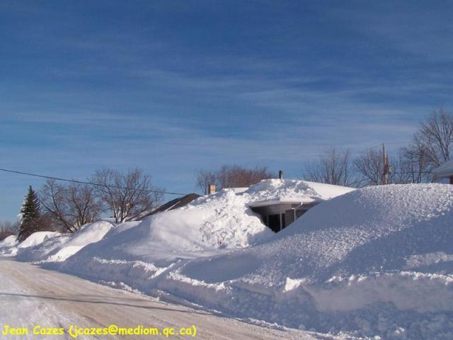 le 8 mars 2008, raz le toit et le bol de la neige !!!