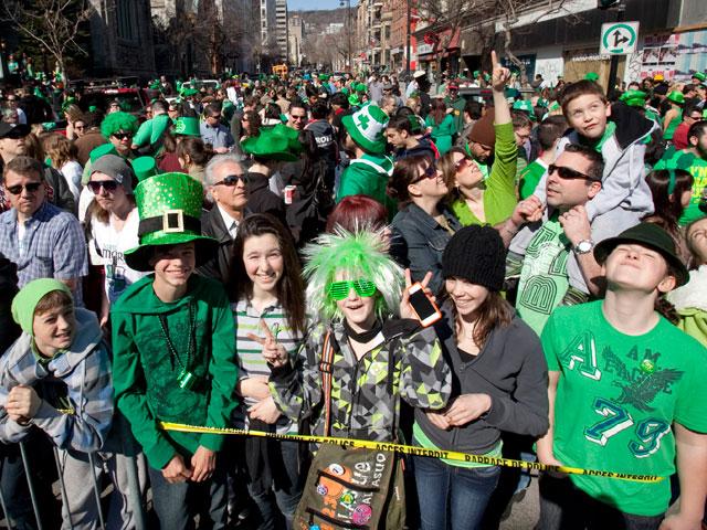 Le défilé de la St-Patrick à Montréal en 2013