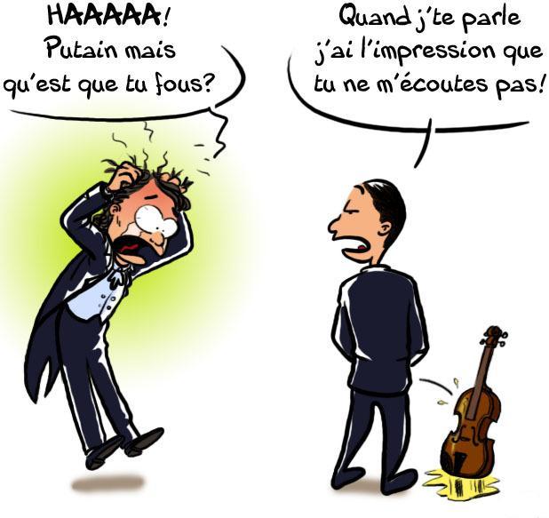 pisser dans un violon