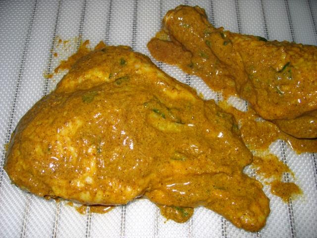 aspect du poulet avant cuisson