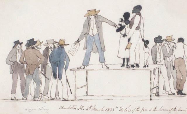 foire aux esclaves au XIXe siècle