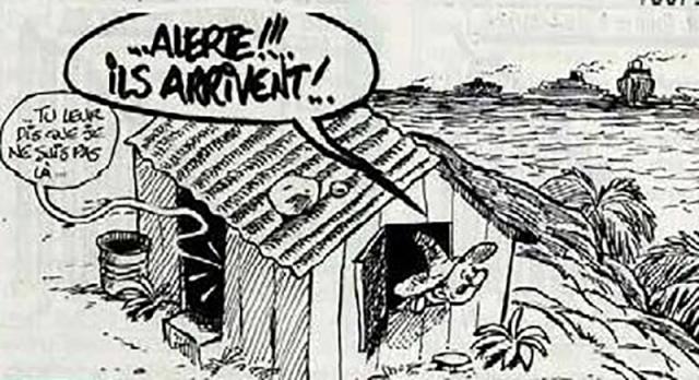 Après l'engloutissement de leur métropole, les rescapés arrivent de France aux Antilles