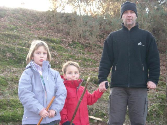 Andrew avec ses enfants il y a 8 ans