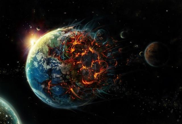 terre explose