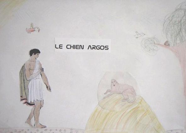 Argos sur son tas de fumier comme Job, seul à reconnaître SON Ulysse.