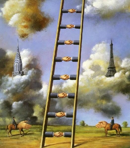 échelle de jacob peinte par Rafal Obinski