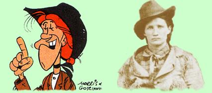 Calamity Jane volgens Morris en in het echt