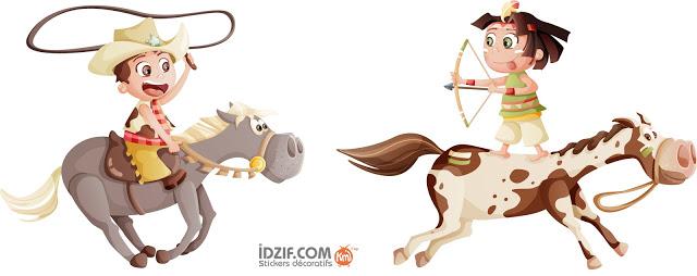 cowboy-et-indien-chevaux