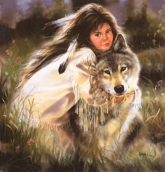 fillette loup