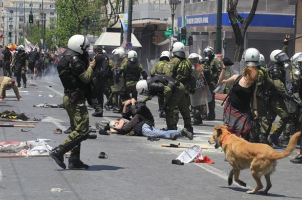 Loukonikos n'avait pas peur des affrontements