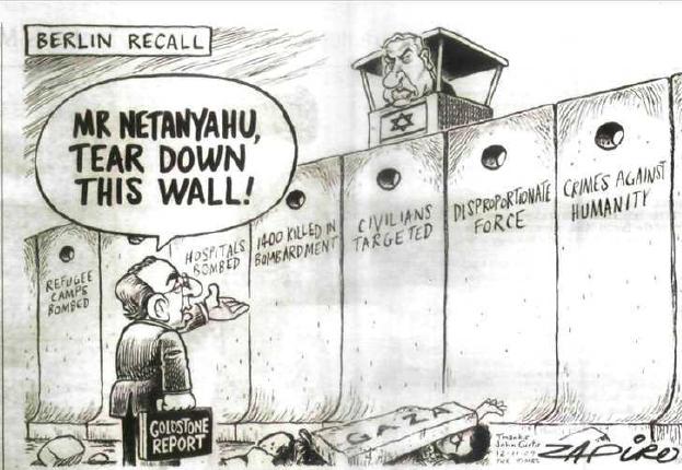 Le mur de la honte en Palestine