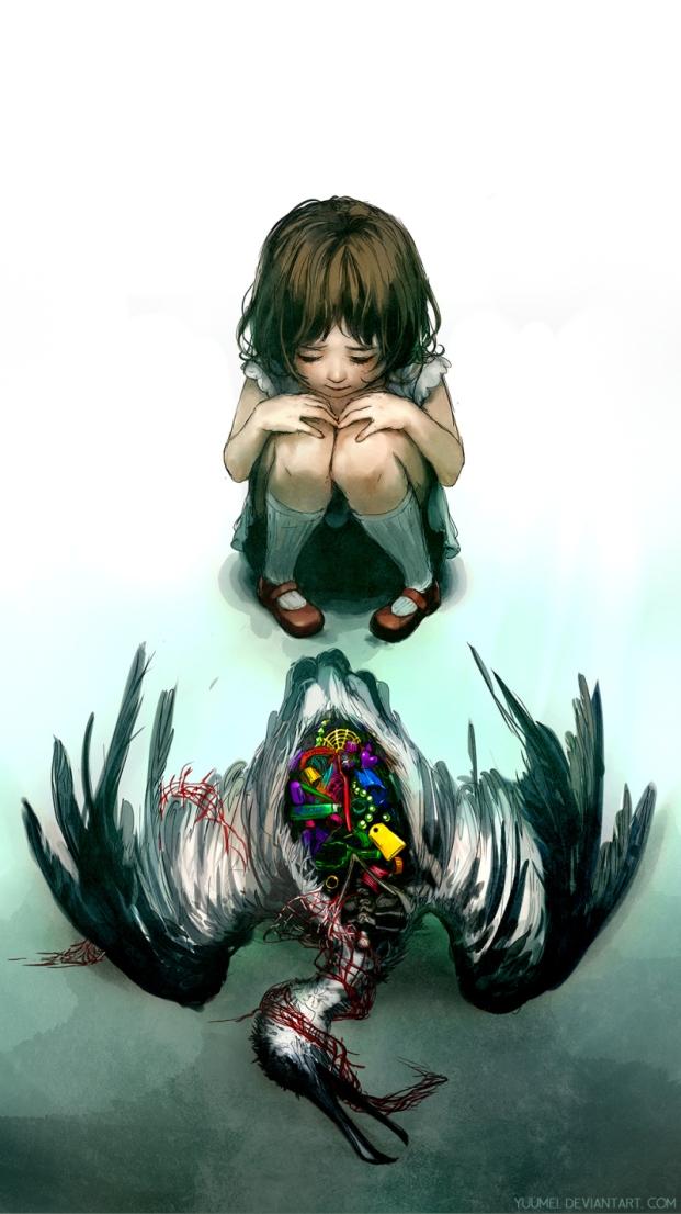 Cette peinture reflète aussi le coeur brisé de la petite Wenqin Yan par le grand chamboulement de sa vie - Wenqin Yan Yuumei
