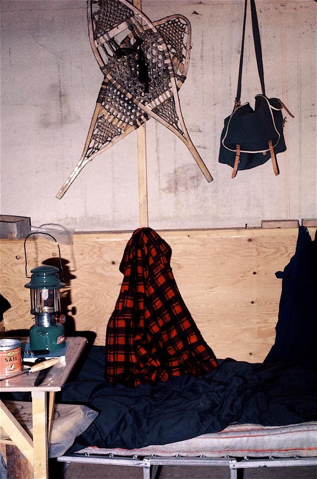 Le coin à T-Bear sous sa tente la 1ère année, il y a 45 ans - T-Bear