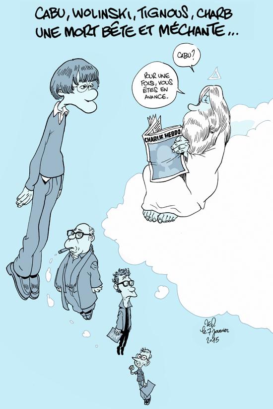 Adieu les caricaturistes de Charlie
