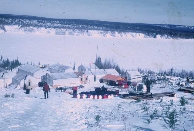 Hiver 1972 - B40, le camp de tentes où Jacques et T-bear ont fait connaissance - photo Jacques Cardin