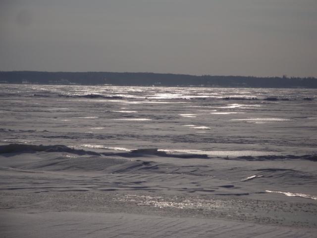Même le fleuve est gelé bien dur - photo Madeleine