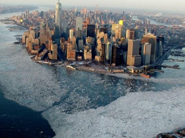 Manhattan sous la glace