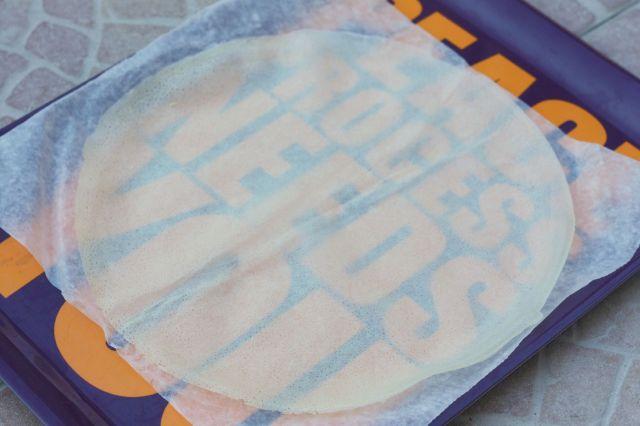 feuille ronde de brick avec ses emballages carrés