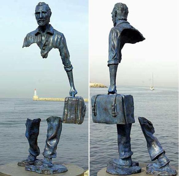 "sculpture de Bruno Catalanos intitulée ""pièces manquantes"""