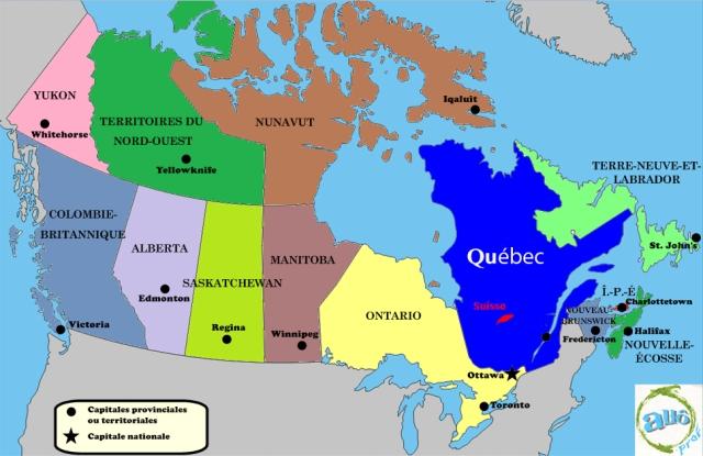 La différence de taille entre la Suisse et le Québec