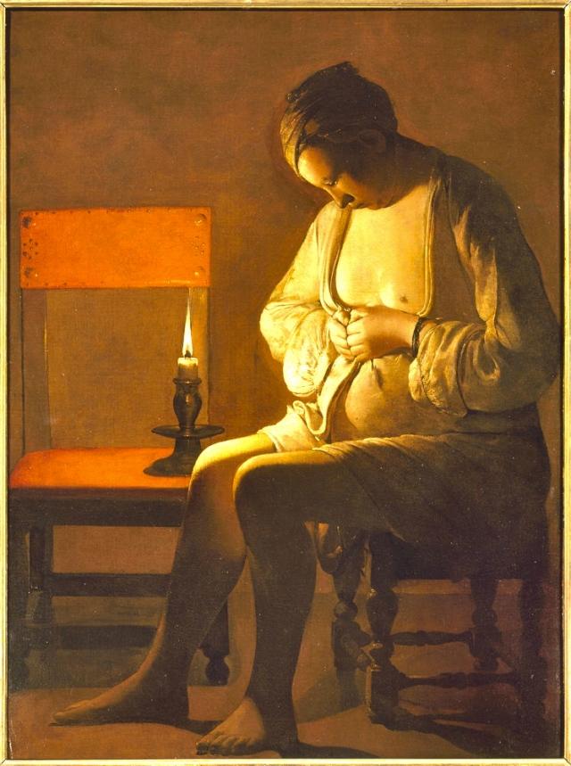 Georges De la Tour : femme à la puce 1631