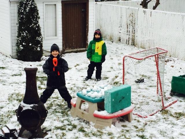 21 décembre 2015, premières boules de neige - T-Bear