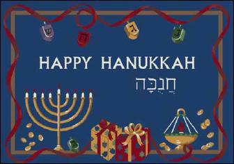 Happy Hanukkah 4533-00014 - Winter