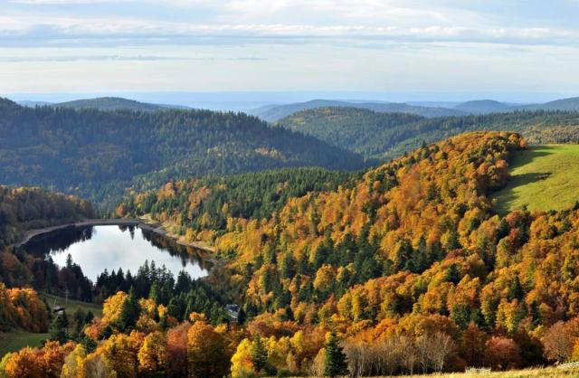 Certains paysages des Vosges ressemblent un peu à ceux des Laurentides au Québec