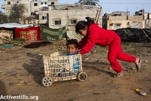 sourire d'enfant à Gaza