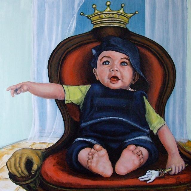 L'enfant roi - peinture T-Bear
