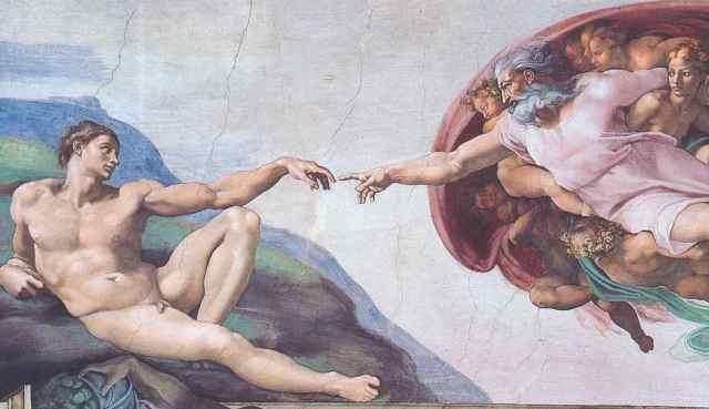 Dieu crée l'homme à son image - Michel-Ange