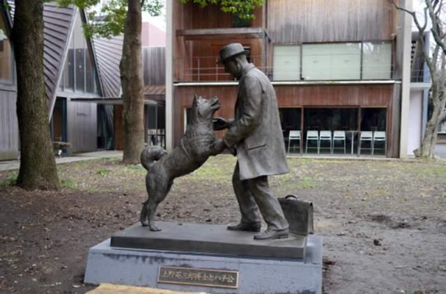 Statue de Hachi Kö et du professeur Ueno