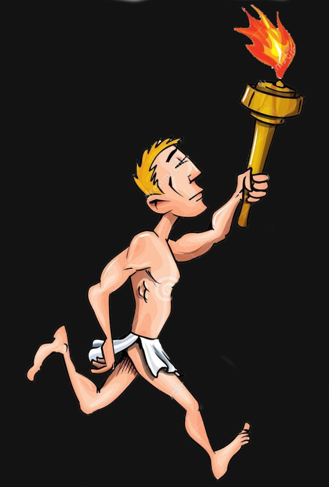 cartoon-olympic-athlete-running-olympic-flame-19748108