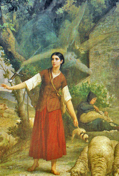 Jeanne entendant St-Michel peinte par Jules Lenepveu